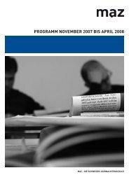 PROGRAMM NOVEMBER 2007 BIS APRIL 2008 - MAZ