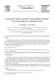 Asymptotic analysis of utility-based hedging strategies for small ...