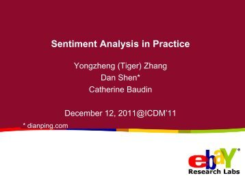 Sentiment Analysis in Practice Tutorial - Faculty of Computer Science