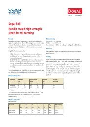 Dogal Roll Hot dip coated high strength steels for roll-forming - SSAB