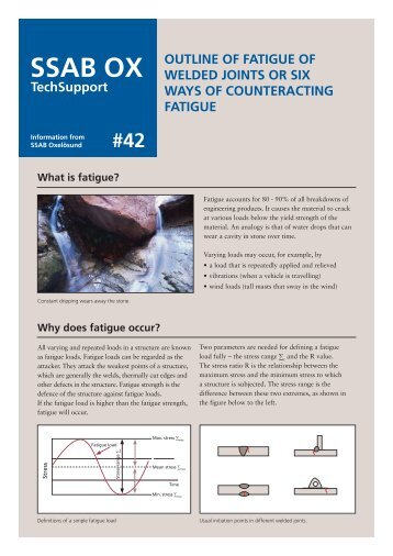 OUTLINE OF FATIGUE OF WELDED JOINTS OR SIX WAYS ... - SSAB