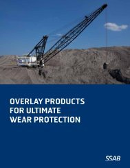 Overlay prOducts fOr ultimate wear prOtectiOn - SSAB