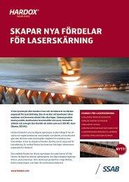 Hardox skapar nya fördelar för  laserskärning (PDF, svenska - SSAB