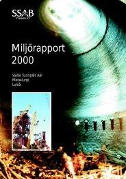 Miljörapport 2000 - SSAB
