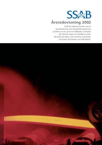 Årsredovisning 2002 - SSAB