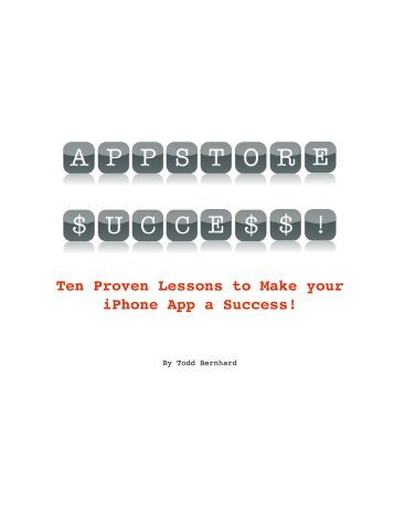 Ten Proven Lessons to Make your iPhone App a ... - No Tie Software