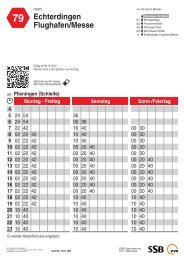 Fahrplan Buslinie 79 - SSB