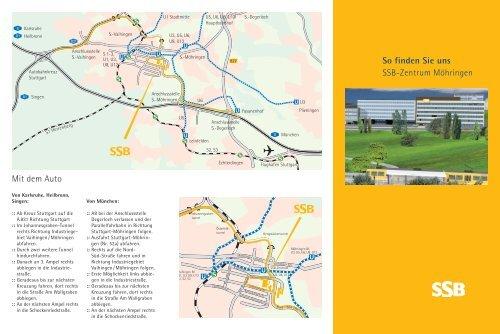So finden Sie uns SSB-Zentrum Möhringen Mit dem Auto