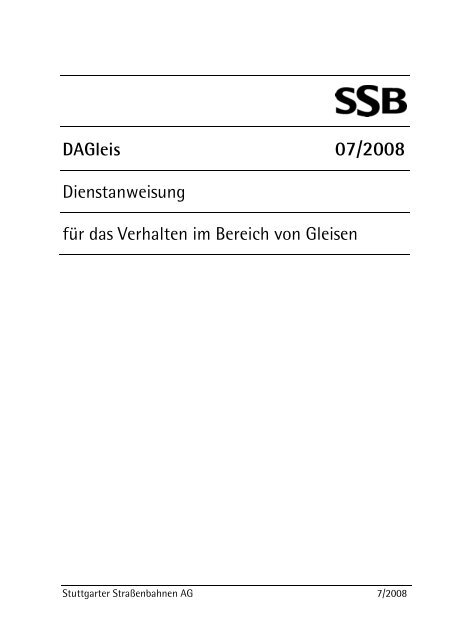 DA Gleis -  SSB