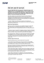 Stål rätt valla för barmark - SSAB.com