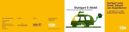 Stuttgart E-Mobil Flyer - SSB
