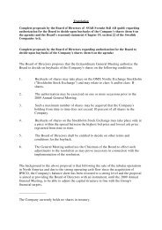 The Board of Directors proposes that the Extraordinary ... - SSAB