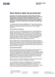Stark Albatros sätter fart på jordbruket - SSAB.com