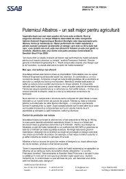 Puternicul Albatros – un salt major pentru agricultură - SSAB