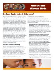 Do Dads Really Make A Difference? - College of Education ...