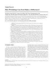 Skin Wrinkling: Can Food Make a Difference? - Journal of the ...