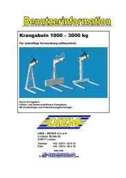 Krangabeln 1000 -; 3000 kg