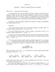 Section 3.4 1 Chapter 3 – Special Discrete Random Variables ...