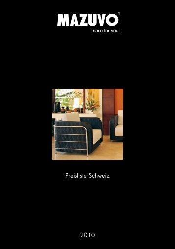 2010 Preisliste Schweiz - Mazuvo