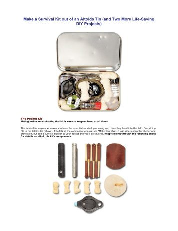 Make a Survival Kit out of an Altoids Tin (and Two More Life-Saving ...
