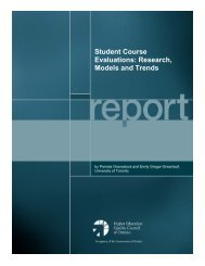 Student Course Evaluations: Research, Models and Trends