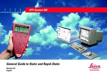 General Guide to Static and Rapid-Static - Surveying