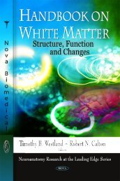 Handbook on White Matter: Structure, Function and Changes ...