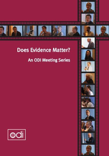 Does Evidence Matter? - Overseas Development Institute
