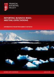 Reporting Business Risks: Meeting Expectations - International ...