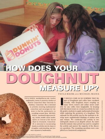 How Does Your Doughnut Measure Up? - Western Oregon University