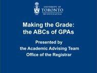 Making the Grade - University of Toronto Mississauga