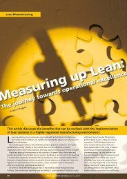 Measuring up Lean: - Institute of Management Services