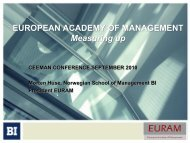 EUROPEAN ACADEMY OF MANAGEMENT Measuring up - Ceeman