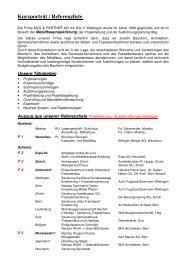 Kurzporträt / Referenzliste - MCS & Partner AG