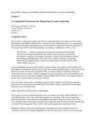 A Conceptual Framework for Measuring Servant-Leadership