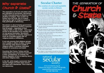 Church and State - National Secular Society