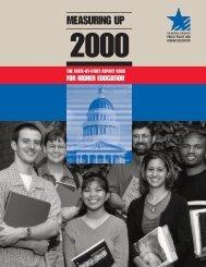Measuring Up 2000 - Southern Utah University