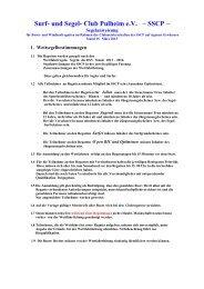 Segelanweisungen des SSCP (als pdf) - Surf- und Segelclub Pulheim