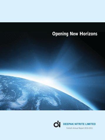 Opening New Horizons - Deepak Nitrite Ltd.