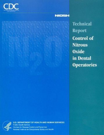 Control of Nitrous Oxide in Dental Operatories [PDF - Centers for ...