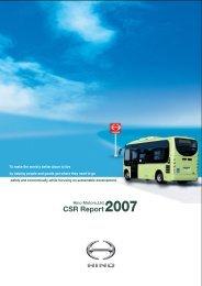 CSR Report 2007 (7.8MB PDF) - hino global