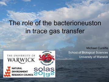 The role of the bacterioneuston in air-sea - NERC