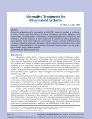 Alternative Treatments for Rheumatoid Arthritis