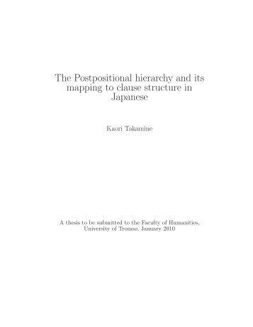 The Postpositional hierarchy and its mapping to clause ... - Munin