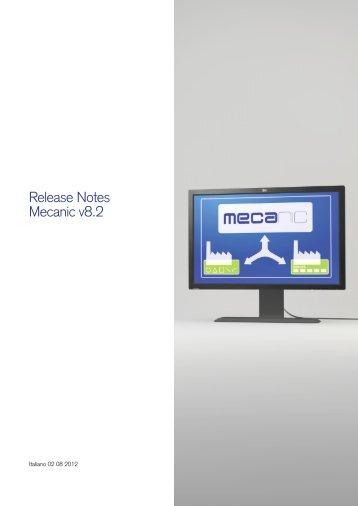Release Notes Mecanic v8.2 - Mecasoft SA