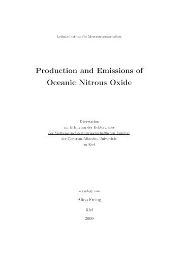 Production and Emissions of Oceanic Nitrous Oxide - OceanRep ...