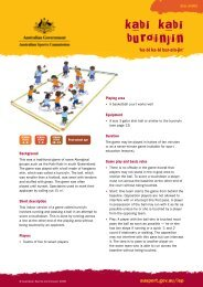 Kabi kabi buroinjin - ball games - Australian Sports Commission