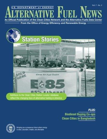 Alternative Fuel News, Vol. 7, No. 3 - NREL