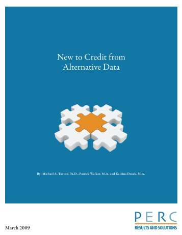 New to Credit from Alternative Data - PERC