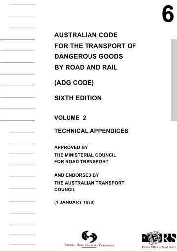 Australian Code for the Transport of Dangerous Goods - National ...